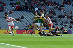 17-1-2017: Another goal for Four goal here and Man of the Match David Clifford in the All-Ireland Football final at Croke Park on Sunday.<br /> Photo: Don MacMonagle