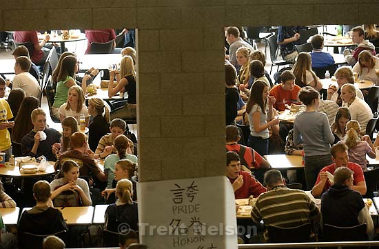 kids at lunch at davis high school. Davis County project. 04/06/2005<br />