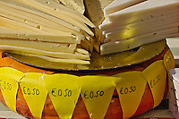 Cheese at the Alkmaar Cheese Market, Alkmaa, Netherlands, Holland