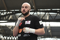 Nathan Gorman during a Public Workout at Old Spitalfields Market on 9th July 2019