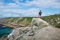 Walk Porthcurno, Cornwall, England