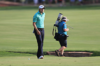 Peter Uihlein (USA) on the 18th fairway during Round 4 of the DP World Tour Championship 2017, at Jumeirah Golf Estates, Dubai, United Arab Emirates. 19/11/2017<br /> Picture: Golffile | Thos Caffrey<br /> <br /> <br /> All photo usage must carry mandatory copyright credit     (© Golffile | Thos Caffrey)