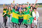 Kerry fans celebrate their victory at Kerry Airport after the All Ireland final in Croke Park on Sunday.