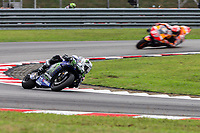 3rd November 2019; Sepang Circuit, Sepang Malaysia; MotoGP Malaysia, Race Day;  Maverick Vinales ahead of Marc Marquez during the race - Editorial Use