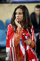 Atletico de Madrid´s supporter during 16th Champions League soccer match at Vicente Calderon stadium in Madrid, Spain. January 06, 2014. (ALTERPHOTOS/Victor Blanco)