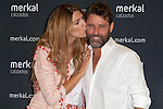 Spanish model Laura Sanchez and Spanish singer David Ascanio present the new summer season shoes Merkal. May 27, 2014. (ALTERPHOTOS / Nacho Lopez)