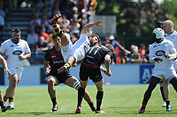 Willie Le Roux of Wasps lands badly after missing a high ball during the Aviva Premiership Rugby semi final match between Saracens and Wasps at Allianz Park on Saturday 19th May 2018 (Photo by Rob Munro/Stewart Communications)