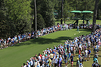 Haotong Li (CHN) on the 18th tee during the 1st round at the The Masters , Augusta National, Augusta, Georgia, USA. 11/04/2019.<br /> Picture Fran Caffrey / Golffile.ie<br /> <br /> All photo usage must carry mandatory copyright credit (&copy; Golffile | Fran Caffrey)