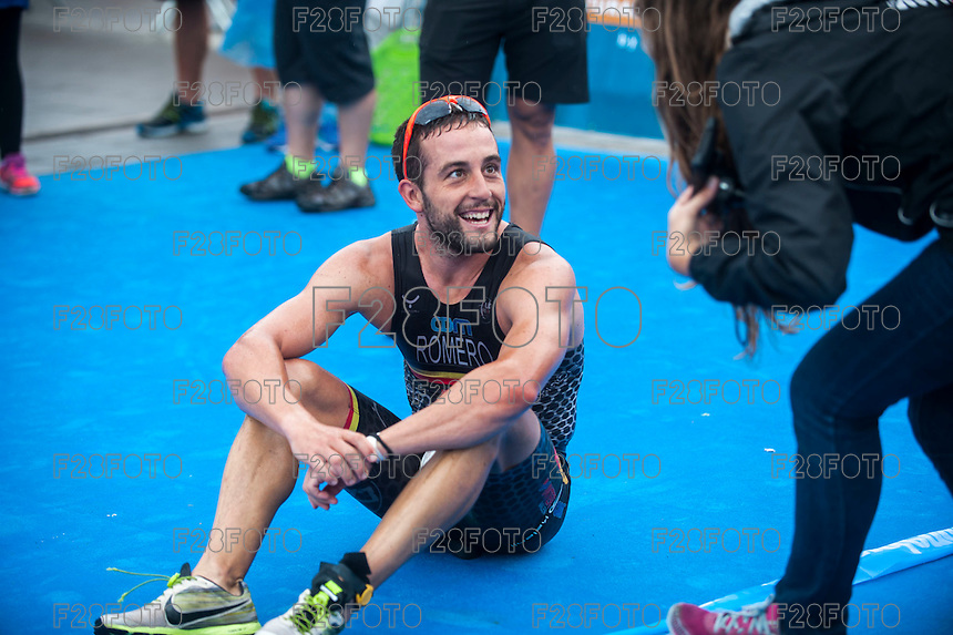 VALENCIA, SPAIN - SEPTEMBER 6: Alberto Romero during Valencia Triathlon 2015 at port of Valencia on September 6, 2015 in Valencia, Spain