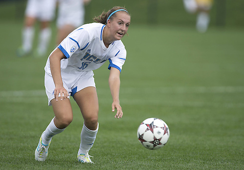 September 01, 2013:  UCLA midfielder Sarah Killion (16) during NCAA Soccer match between the Notre Dame Fighting Irish and the UCLA Bruins at Alumni Stadium in South Bend, Indiana.  UCLA defeated Notre Dame 1-0.