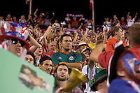A Mexican fan reacts to the first goal scored by the USA at Crew Stadium in Columbus, OH, on September 3, 2005. The USA won 2-0. (Photo by Brooks Parkenridge/ISI)