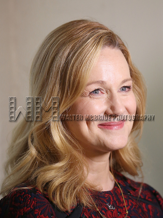 Laura Linney attends the cast photo call for the Manhattan Theatre Club's New Broadway Production of 'The Little Foxes' at the MTC Rehearsal studios on February 27, 2017 in New York City.