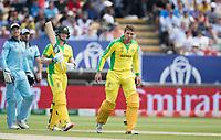Alex Carey (Australia) took a nasty blow during Australia vs England, ICC World Cup Semi-Final Cricket at Edgbaston Stadium on 11th July 2019