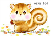 Kayomi, CUTE ANIMALS, paintings, Squirrel_M, USKH206,#AC# stickers illustrations, pinturas ,everyday