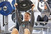 George Byers exercises in the gym during the Swansea City Training Session at The Fairwood Training Ground, in Swansea, Wales, UK. Wednesday 06 March 2019
