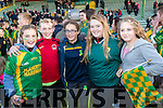Kelly Meehan, Earnán Ferris, Ellen Cooke, Jessica O'Sullivan and Clara Heather, supporting Kilmoyley, at the senior Hurling replay Kilmoyley v Ballyduff, held in Austin Stack Park, Tralee on Saturday evening last.