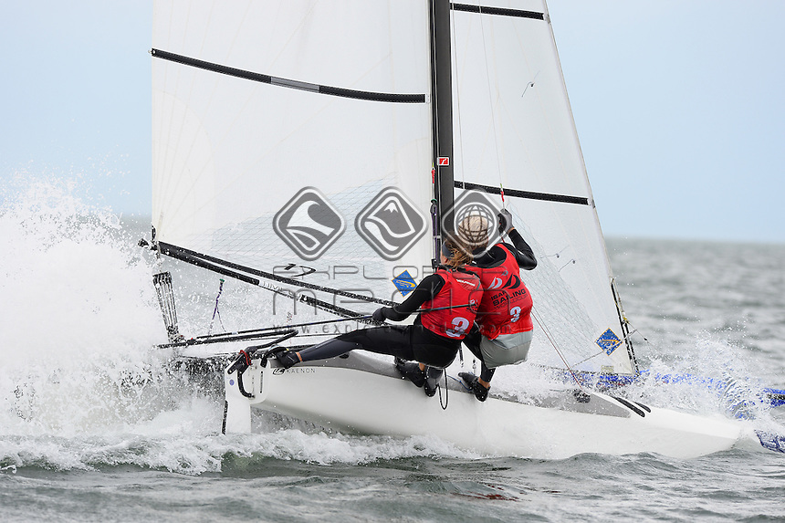 Nacra 17 / Gemma JONES &amp; Jason SAUNDERS (NZL)<br /> 2013 ISAF Sailing World Cup - Melbourne<br /> Sail Melbourne - The Asia Pacific Regatta<br /> Sandringham Yacht Club, Victoria<br /> December 1st - 8th 2013<br /> &copy; Sport the library / Jeff Crow