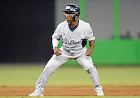 Florida International University infielder Julius Gaines (2) plays against the Miami Marlins, which won the game 5-1 on March 7, 2012 at Miami, Florida. .