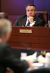 Nevada Sen. Mark Lipparelli, R-Las Vegas, listens to testimony in a committee hearing at the Legislative Building in Carson City, Nev., on Tuesday, Feb. 3, 2015. <br /> Photo by Cathleen Allison