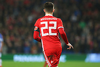 The back of Ben Woodburn of Wales shirt during the International Friendly match between Wales and Panama at The Cardiff City Stadium, Wales, UK. Tuesday 14 November 2017