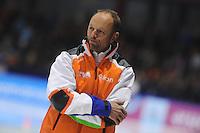 SCHAATSEN: HEERENVEEN: IJsstadion Thialf, 16-11-2012, Essent ISU World Cup, Season 2012-2013, Gerard Kemkers (trainer/coach TVM Schaatsploeg), ©foto Martin de Jong