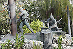 Wreckers depicted in the Key West Historic Memorial Sculpture Garden, Key West, Florida