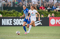 Boston, MA - Friday August 04, 2017: Amanda Frisbie, Shea Groom during a regular season National Women's Soccer League (NWSL) match between the Boston Breakers and FC Kansas City at Jordan Field.