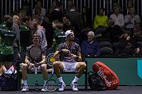 Rotterdam, The Netherlands, 9 Februari 2020, ABNAMRO World Tennis Tournament, Ahoy, Doubles: Karen Khachanov (RUS) and Andrey Rublev (RUS). Photo: www.tennisimages.com