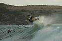 Unknown surfer (USA) at North Pt in Gracetown Near Margaret River, Western Australia.
