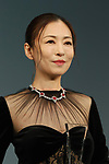 """August 29, 2018, Tokyo, Japan - Japanese actress Yasuko Matsuyuki attends the awarding ceremony for the """"Jeweller's choice women of the year"""" at the Japan Jewellery Fair 2018 in Tokyo on Wednesday, August 29, 2018. Matsuyuki wore Italian high jeweller Picchiotti's necklace with total 27.51ct rubies and 41.02ct diamonds.            (Photo by Yoshio Tsunoda/AFLO) LWX -ytd-"""