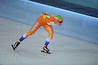 SCHAATSEN: DEVENTER: IJsbaan De Scheg, 26-10-12, IJsselcup, winnares 3000m Antoinette de Jong, baanrecord 4:21,55, ©foto Martin de Jong