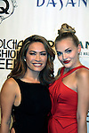Designer Mimi Tran with her fashion show poses with Madeline Brewer at Nolcha Fashion Week New York on September 8, 2014 at Eyebeam Atelier - 540 W. 21st St, New York City, New York. (Photo by Sue Coflin/Max Photos)