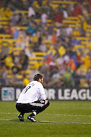 21 AUGUST 2010:  Colorado Rapids goalkeeper Matt Pickens (18) during MLS soccer game between Colorado Rapids vs Columbus Crew at Crew Stadium in Columbus, Ohio on August 21, 2010.