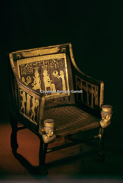 Chair of Princess Sitamun; reign of Amenhotep III, KV46, Tutankhamun and the Golden Age of the Pharaohs; Page 144
