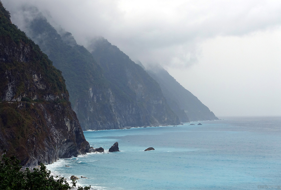 The rugged, eastern coast of Taiwan, near the city of Hualien.