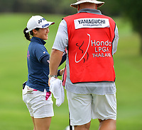 PATTAYA, THAILAND - FEBRUARY 22: Suzuka Yamaguchi of Japan reaction on the 18th green during the second round of the Honda LPGA Thailand 2019 at Siam Country Club Pattaya (Old Course), Pattaya, Thailand on February 22, 2019.<br /> .<br /> .<br /> .<br /> (Photo by: Naratip Golf Srisupab/SEALs Sports Images)<br /> .<br /> Any image use must include a mandatory credit line adjacent to the content which should read: Naratip Golf Srisupab/SEALs Sports Images
