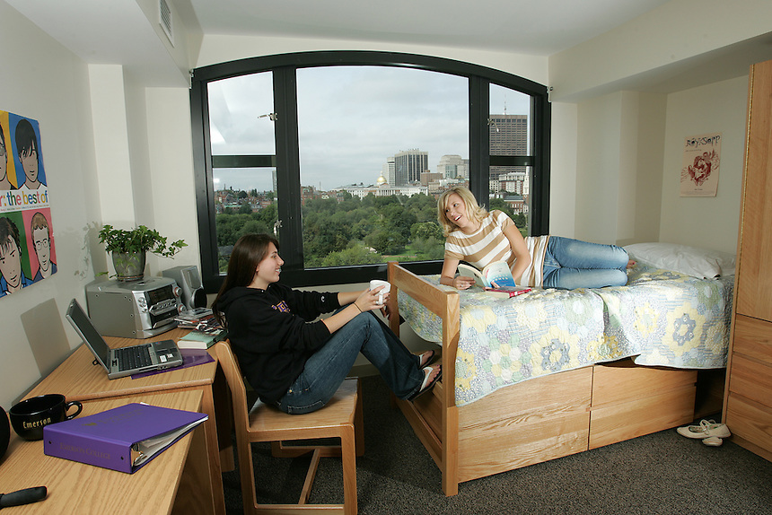 residence hall, Piano Row, students, student, female