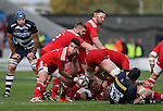 Conor Murray of Munster feeds the ball to the backs - European Rugby Champions Cup - Sale Sharks vs Munster -  AJ Bell Stadium - Salford- England - 18th October 2014  - Picture Simon Bellis/Sportimage