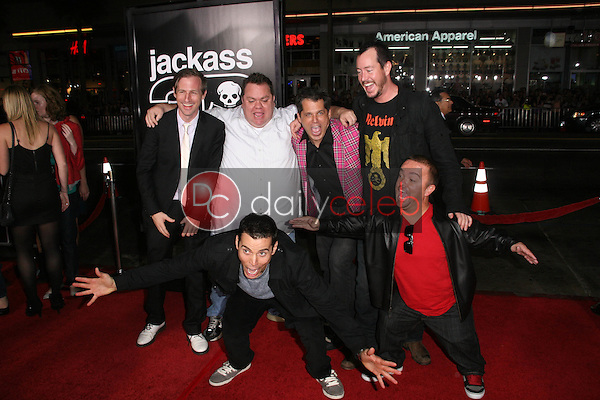 Spike Jonze, Preston Lacy, Jeff Tremaine, Ehren McGhehey, Steve O and Jason &quot;Wee Man&quot; Acuna<br />