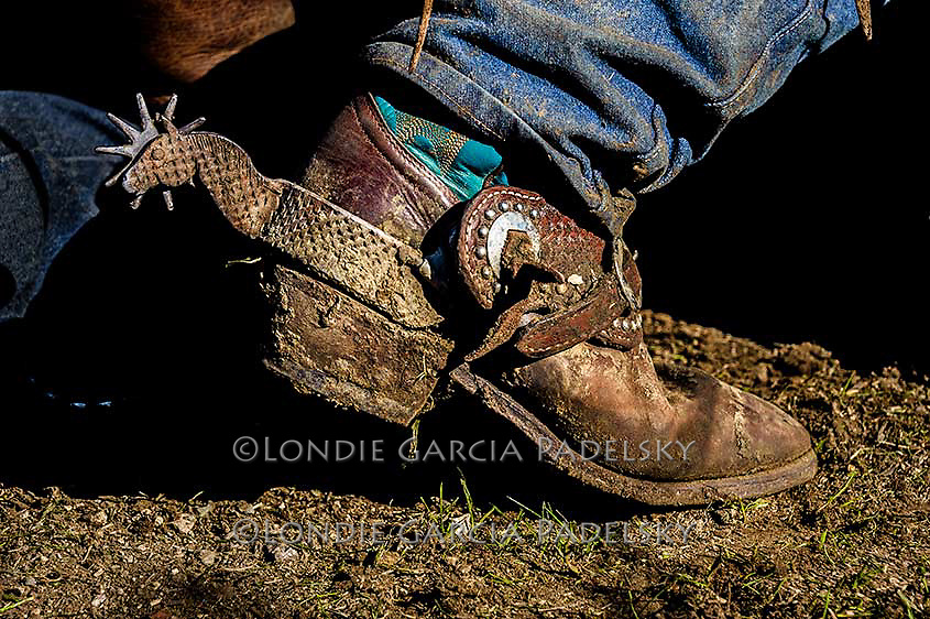Cowboy boot and spur, cattle branding at the Lone Valley Ranch in San Luis Obispo, California