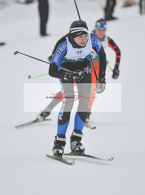 Chugiak's Emma Nelson skis in a sprint race during the Service Snowball races at Kincaid Park Saturday, Dec. 3, 2016.  Photo by Michael Dinneen for the Star.
