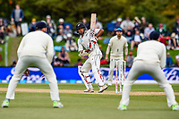 A watchfull Jeet Raval of the Black Caps during Day 4 of the Second International Cricket Test match, New Zealand V England, Hagley Oval, Christchurch, New Zealand, 2nd April 2018.Copyright photo: John Davidson / www.photosport.nz