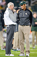 Baylor Bears Head Coach Art Briles and Kansas State Head Coach Bill Snyder before an NCAA football game, Saturday, December 06, 2014 in Waco, Tex. Baylor defeated Kansas State 38-27. (Mo Khursheed/TFV Media via AP Images)