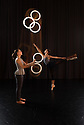 London, UK. 15.09.2014. Gandini Juggling, 4 x 4 Ephemeral Architecture, Creation Studio, NCCA (Circus Space), Hoxton. Directed and devised by Sean Gandini, choreographed by Ludovic Ondiviela. Picture shows: Kim Huynh (juggler) and Kate Byrne (dancer). Photograph © Jane Hobson.