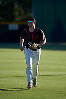 AZL Giants Black outfielder Harrison Freed (32) jogs off the field between innings of an Arizona League game against the AZL Angels at the Giants Baseball Complex on June 21, 2019 in Scottsdale, Arizona. AZL Angels defeated AZL Giants Black 6-3. (Zachary Lucy/Four Seam Images)