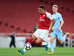 Arsenal's Donyell Malen in action during the premier league 2 match at the Emirates Stadium, London. Picture date 21st August 2017. Picture credit should read: David Klein/Sportimage