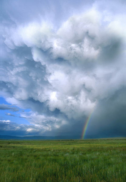 Rainbow in Arapaho National Wildlife Refuge, Walden, Colorado, USA. .  John leads private photo tours throughout Colorado. Year-round Colorado photo tours.