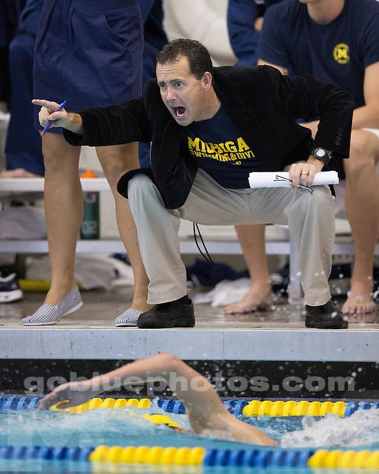 The University of Michigan men's swimming & diving team beat Wisconsin, 172.5-115.5, at Canham Natatorium in Ann Arbor Mich., on September 29, 2012.