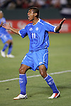 7 June 2007: El Salvador's Ronald Cerritos yells at a teammate following an errant shot. The National Team of El Salvador defeated the National Team of Trinidad & Tobago 2-1 at the Home Depot Center in Carson, California in a first round game in the CONCACAF Gold Cup.