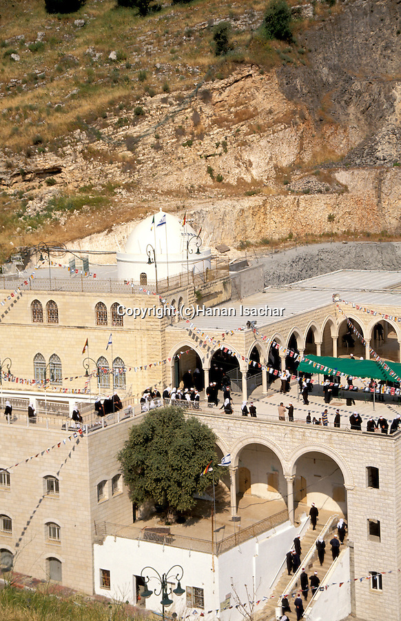 Israel, the lower Galilee. The annual pilgrimage to Nabi Shueib, the sacred site of the Druze, for here they venerate the tomb of Moses' father-in-law Jethro&#xA;<br />